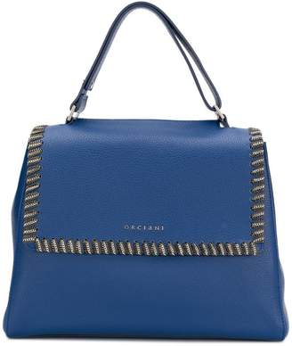 Orciani chain trimmed tote bag