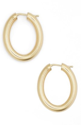 Women's Roberto Coin Oval Hoop Earrings $720 thestylecure.com