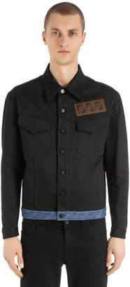 Fendi Signature Ff Patch Cotton Denim Jacket