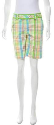 Lilly Pulitzer Plaid Mid-Rise Shorts
