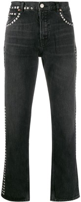 Martine Rose studded low-rise straight jeans