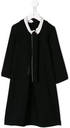 Señorita Lemoniez long-sleeve flared dress
