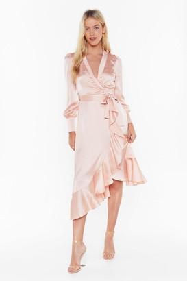Nasty Gal Dressed to Frill Ruffle Wrap Dress
