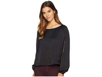 Romeo & Juliet Couture Cold Shoulder Pleated Blouse Women's Blouse