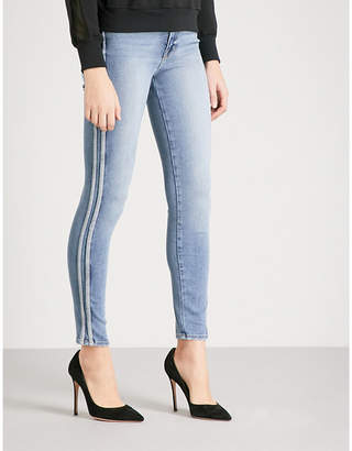 Good American Good Waist athletic slim-fit high-rise jeans