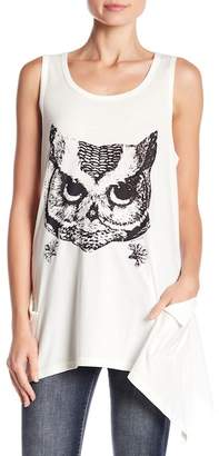 Papillon Owl Asymmetrical Hem Top