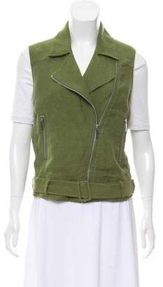 Elizabeth and James Linen Zip-Up Vest w/ Tags