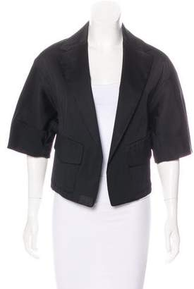 Donna Karan Silk Notch-Lapel Bolero