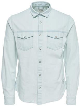 ONLY & SONS Cast Long-Sleeve Denim Sport Shirt