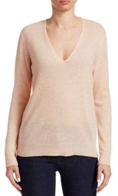 Theory Adrianna Cashmere V-Neck Sweater