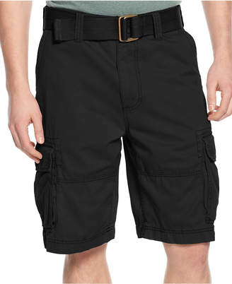 American Rag Men's Belted Relaxed Cargo Shorts