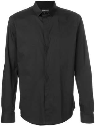 Emporio Armani classic curved hem shirt