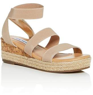 3317a068d52 Steve Madden Girls  JBandi Strappy Platform Wedge Sandals - Little Kid