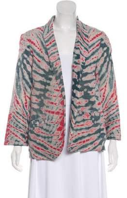 Raquel Allegra Tie-Dye Long Sleeve Blazer