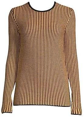 Derek Lam Women's Stripe-Knit Wool Sweater