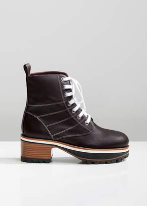 Sies Marjan Jessa Grain Nappa Combat Boots