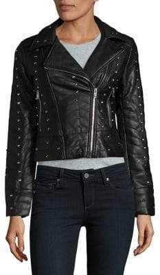 Miss Selfridge Quilted Artificial Leather Moto Jacket