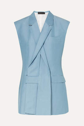Haider Ackermann Linen And Silk-blend Vest - Light blue