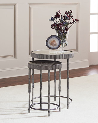 Hooker Furniture Mark Antiqued Mirrored Nesting Tables