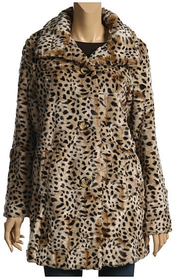 Lucky Brand - Leopard Faux Fur Coat (Leopard Print)