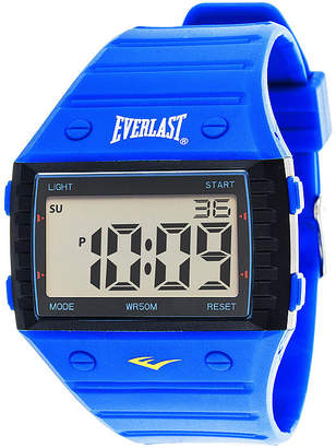 Everlast Blue Silicone Strap Digital Sport Watch