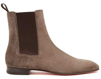 Christian Louboutin - Roadie Suede Chelsea Boots - Mens - Grey