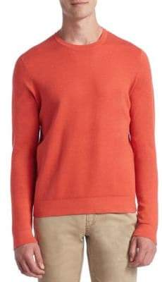 Saks Fifth Avenue COLLECTION Tech Silk& Cashmere Sweater