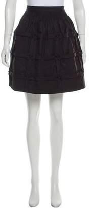 Manoush Wool Blend Embellished Skirt