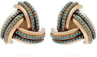 Etro Crystal-embellished gold-tone clip-on earrings