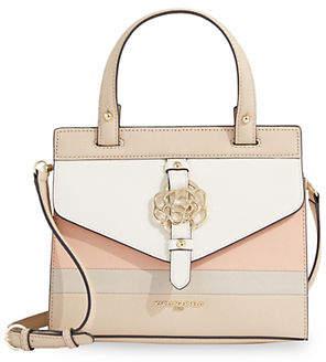 Karl Lagerfeld PARIS Susan Floral Leather Top Handle Bag