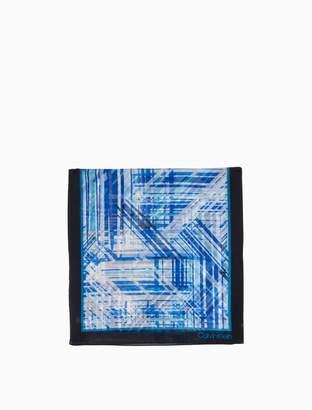 Calvin Klein abstract diagonal silk scarf