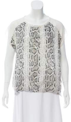 Generation Love Animal Print Silk Top