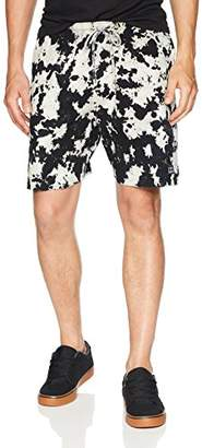 Obey Men's PALOMA Elastic Waist Bleached Short