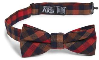 Nordstrom Plaid Silk Bow Tie
