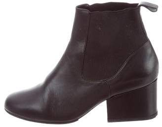 Robert Clergerie Leather Round-Toe Boots