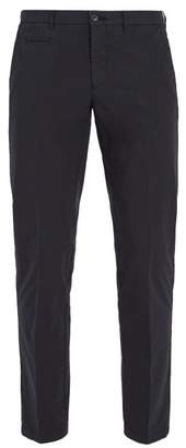 Altea - Mid Rise Cotton Blend Chino Trousers - Mens - Navy