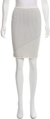 Alexander Wang Striped Knee-Length Skirt White Striped Knee-Length Skirt