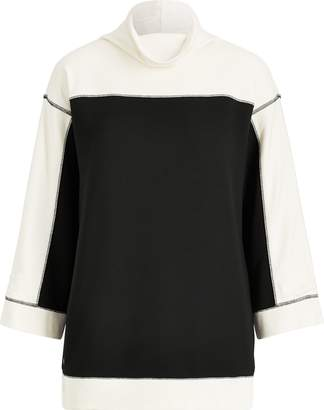 Ralph Lauren Color-Block Mockneck Pullover