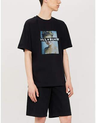 Selfridges Lifes A Beach Peaks brand-print cotton-jersey T-shirt
