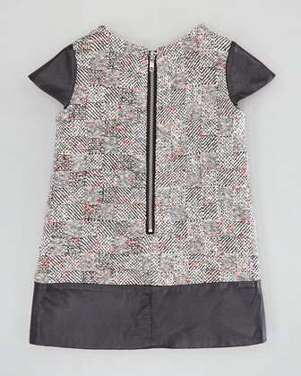 Milly Minis Rachel Combo Shift Dress, Multi, 8-10