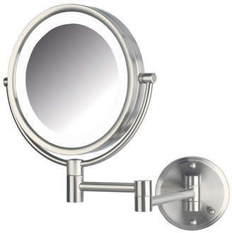 """The Jerdon HL88NLD 8.5"""" Led Lighted Wall Mount Direct Wire Makeup Mirror Bedding"""