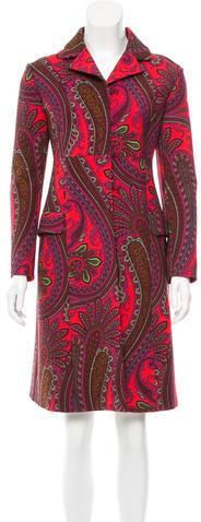 Miu MiuMiu Miu Paisley Virgin Wool Coat