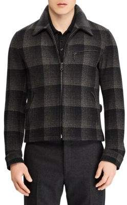 Ralph Lauren Purple Label Richland Newsboy Plaid Wool Jacket