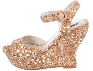 Alice + Olivia Cork Platform Wedges