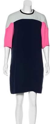 Diane von Furstenberg Yumi Colorblock Mini Dress