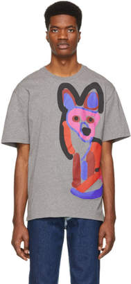MAISON KITSUNÉ Grey Acide Fox T-Shirt