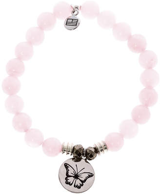 Tiffany & Co. Jazelle Rose Quartz Butterfly Bracelet