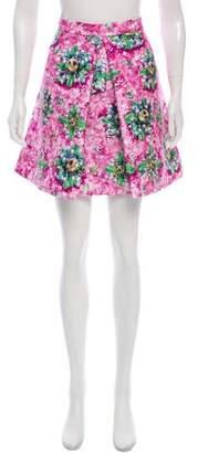 Mary Katrantzou Floral Print Pleated Skirt w/ Tags