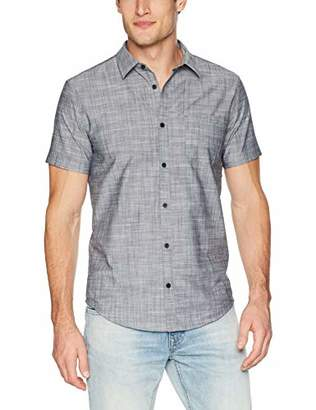 Calvin Klein Men's Short Sleeve Button Down Shirt