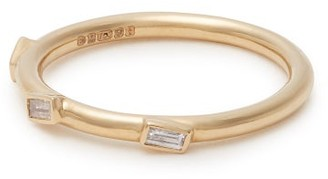 Ileana Makri 18kt Gold And Baguette Diamond Ring - Womens - Yellow Gold